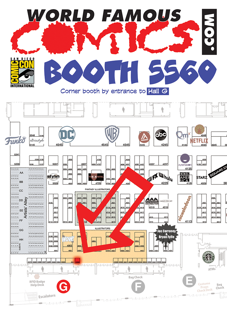 World Famous Comics, San Diego Comic-Con 2019, Hall G, Booth 5560